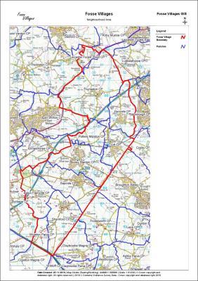 Map of Fosse Villages Designated NP Area